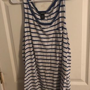 TORRID Blue & White Striped Tank Top Size 1 Plus